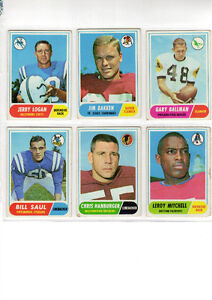 1968 Topps Football Series - 5 Rookies West Island Greater Montréal image 1