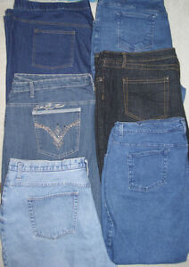 6 pairs of plus size jeans