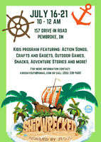 Vacation Bible School Children's Day Camp - July 16-20