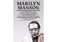 GLASGOW: 2 x MARILYN MANSON TICKETS. 5th December