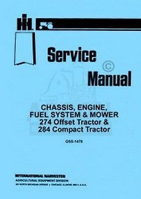 International 274 284 Mower Engine Fuel Service Manual