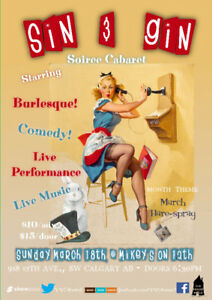 Sin & Gin Soiree Cabaret - 'March HareSpray