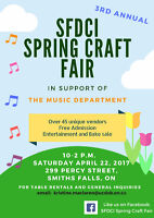 VENDORS WANTED Craft Fair in Smiths Falls April 22, 2017
