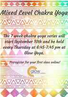 Chakra Yoga @ Glow Yoga and Wellness