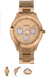 "Fossil rose gold ""Stella"" watch."