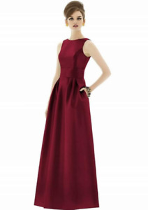 Long Burgundy Dress with Pockets - size 2
