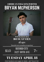 Bryan McPherson plays Reocrd City Tuesday Night!!