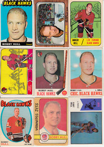 LOT DE 21 CARTES DE BOBBY HULL 1965-66 TOPPS # 59