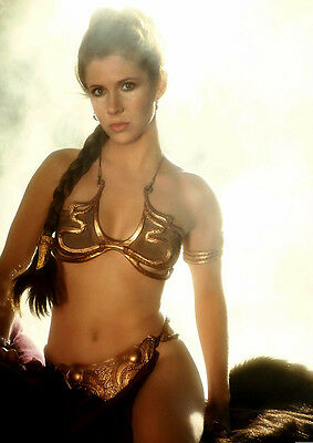 Movie PHOTO 8.25x11.75 Princess Leia Carrie Fisher Jabba's Slave Bikini 02