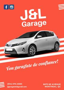 J&L Garage: votre mécanicien de confiance!