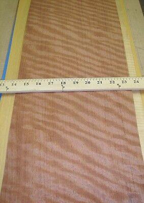 Bubinga Figured Wood Veneer 9 X 100 Raw With No Backing 142 Thickness Aaa