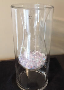 Large Glass Vase with Insert!