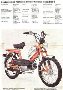 Wanted Kreidler Flory MP2 MP9 MP19 Moped Parts