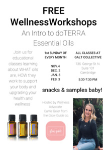 FREE Wellness Workshops on using Essential Oils