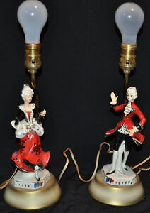 Vintage porcelaine man and lady lamps Kitchener / Waterloo Kitchener Area image 9