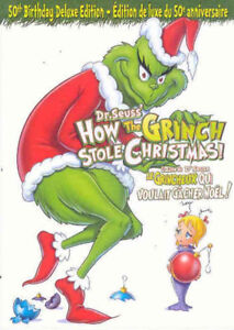 How the Grinch Stole Christmas-50th Anniversary dvd-new! + bonus