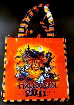 Walt Disney World HALLOWEEN 2011 Orange Black Tote Bag Candy - Halloween Disney World