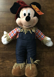 Disney Mickey Mouse Harvest Scarecrow Thanksgiving Greeter 24 in