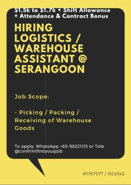 ⚡Logistics Assistant :: FAST HIRE + CAN WORK WITH FRIENDS