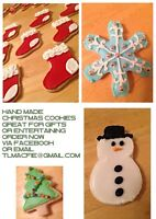 Home baked and hand decorated Christmas cookies