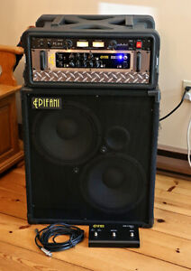 "Epifani UL502 Bass Amp and UL212  2x12"" Cabinet"