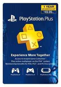 Playstation Plus PSN+ 1 YEAR Membership card code Windsor Region Ontario image 1