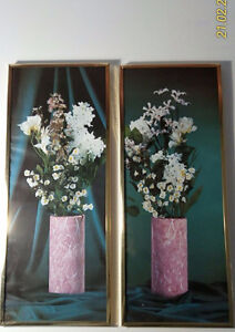 2 Flowers Framed Pictures $10 Both