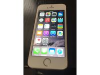 iPhone 5s in white and gold unlocked on all networks