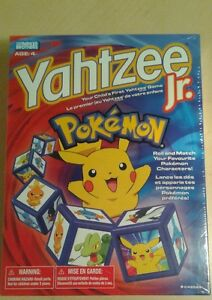Pokemon Yahtzee Jr, 2004 (Factory Sealed)