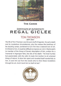 """Tom Thomson """"The Canoe"""" Regal Collection Giclee Canvas London Ontario image 4"""