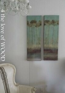 Wall Art - Turquoise - Trees