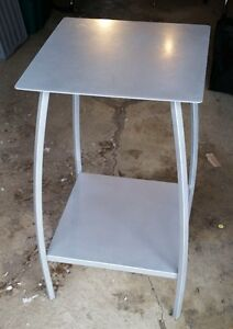 HEAVY METAL DISPLAY END TABLE SIX AVAILABLE HOME OR COMMERCIAL