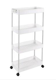 Brand New Storage Trolley 4-Tier Slide Out Storage Cart