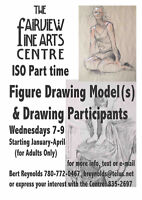 Figure Drawing Model for Wednesday Evenings in Fairview