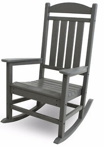 POLY-WOOD R100GY Presidential Rocker, Slate Grey Cambridge Kitchener Area image 1