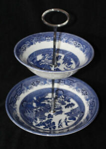 JOHNSON BROS. 2 TIER BOWL SET - BLUE WILLOW