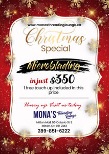 Get Microblading Offers @  Mona's Threading Lounge