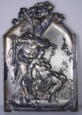 Antike WMF Jugendstil Wand Platte / Bild um 1900
