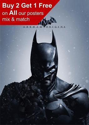 Batman Arkham Origins Poster A5 A4 A3 A2 A1