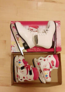 2 pairs of skates for girls for sale