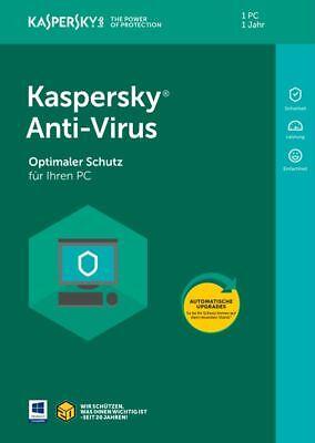 Kaspersky AntiVirus 2018 1 PC / 1 Jahr Deutsch (auch für 2019) /