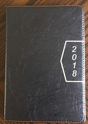 2018 Calendar Planner Appointment Book Daily Travel Agenda Notebook Tabbed Black