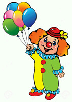 CLOWNS FOR TODDLERS - LOWEST PRICE!