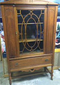 Fine detailed antique display hutch