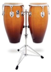 CRESCENT DOUBLE CONGA DRUMS ON STAND