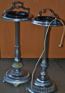 Pedestal Vintage Ashtray Stands - Two