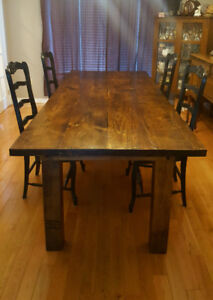 Distressed Solid Pine Harvest Table