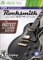 Rocksmith 2014 Edition Game and Cable Xbox 360 with Box Manual