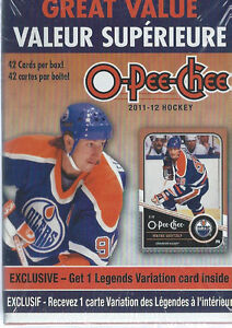 2011-12 Upper Deck O-Pee-Chee Hockey 42 Card Super Box