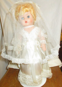 "Vintage 1955 Bride Doll  Dee an Cee Toy Co.  14""    64 Years Old"